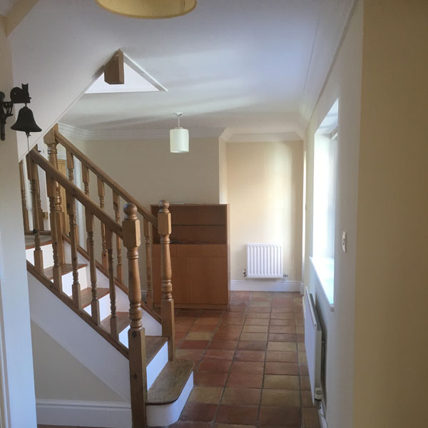 Hallway and staircase decorating work in Chester