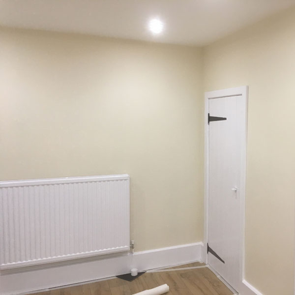 Tenant bedroom painted
