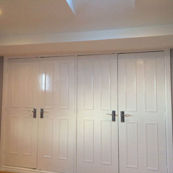 Painted Wardrobe doors at Chester house for rent